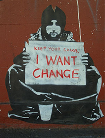 Keep your coins, I want change